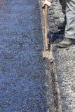 Excess asphalt Royalty Free Stock Photo