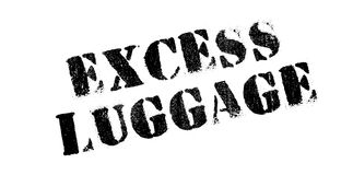 Excess Luggage rubber stamp Royalty Free Stock Photography