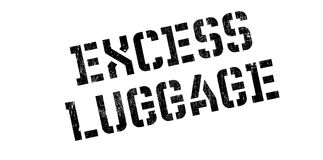 Excess Luggage rubber stamp Royalty Free Stock Images