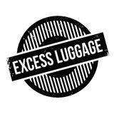Excess Luggage rubber stamp Stock Photography