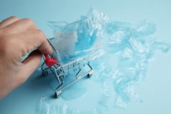 Excess plastic trash in retail royalty free stock photos