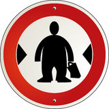 Excess of weight. Sign silhouette Stock Photo