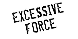 Excessive Force rubber stamp Stock Photography