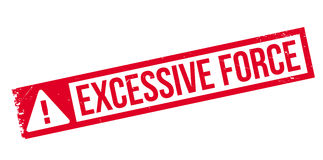 Excessive Force rubber stamp Stock Image