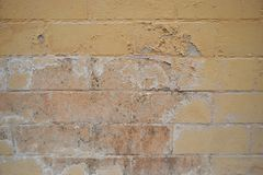Excessive moisture can cause mold and peeling paint wall such as rainwater leaks or water leaks royalty free stock photo
