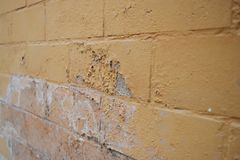 Excessive moisture can cause mold and peeling paint wall such as rainwater leaks or water leaks royalty free stock images