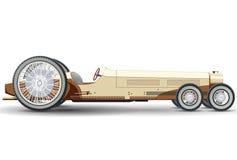 Excessivement la longue voiture ressemble à la limousine Voiture jaune avec six roues Photographie stock libre de droits