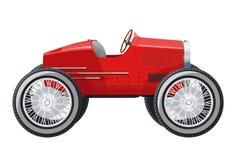 Excessivement la voiture courte ressemble à la limousine Voiture rouge avec six roues Photographie stock libre de droits