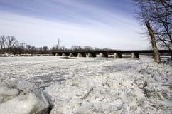 Doces do gelo no rio do Mohawk Imagens de Stock