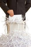 Excesso do Shredder Imagens de Stock