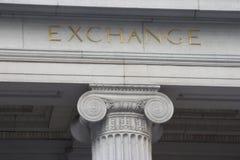 Exchange Column stock photos