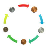 Exchange currency Stock Images