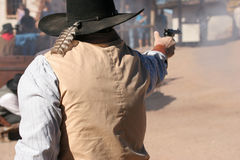 Exchange of Gunfire Royalty Free Stock Images
