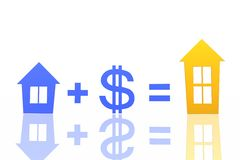 Exchange of houses Royalty Free Stock Images