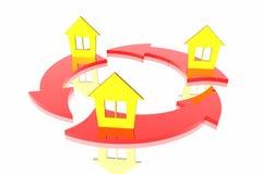 Exchange of houses Stock Photography