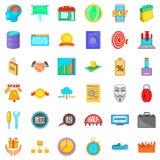 Exchange icons set, cartoon style. Exchange icons set. Cartoon style of 36 exchange vector icons for web isolated on white background Stock Images