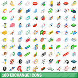 100 exchange icons set, isometric 3d style. 100 exchange icons set in isometric 3d style for any design vector illustration Stock Photo
