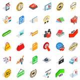 Exchange icons set, isometric style. Exchange icons set. Isometric set of 36 exchange vector icons for web isolated on white background Royalty Free Stock Images