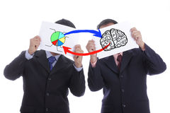 Exchange idea and concept together Royalty Free Stock Photography