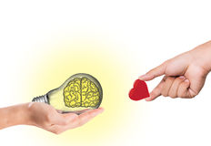 Exchange idea and love Royalty Free Stock Photo
