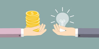 The exchange of ideas on the money Royalty Free Stock Photos