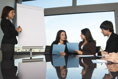 Exchange of ideas during training. In office royalty free stock images