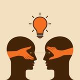 Exchange ideas vector. Vector Illustration Stock Photo