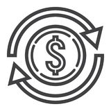 Exchange line icon, business and finance, dollar. Sign vector graphics, a linear pattern on a white background, eps 10 Stock Photography