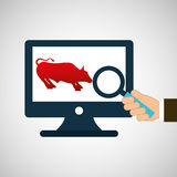 Exchange market bull icon design Royalty Free Stock Images