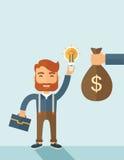 Exchange of money in idea Royalty Free Stock Photo