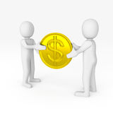 The exchange of money Stock Photo