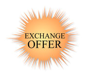 Exchange offer. Isolated label with the word of exchange offer Royalty Free Stock Images