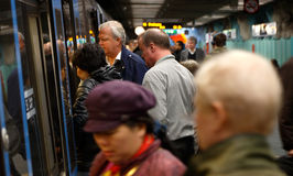 Exchange of passengers Stock Photography