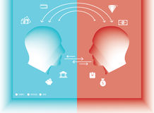 Exchange People. Exchange ideas or goods people concept royalty free illustration