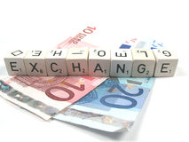 Exchange rate. What is the excahange rate stock images