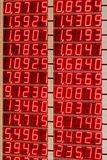 Exchange Rate Board Stock Images