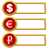 Exchange Rate icons. On a white background. Vector illustration Stock Images