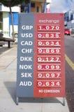 Exchange rates for Euro Royalty Free Stock Photo