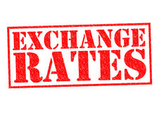 EXCHANGE RATES Stock Photo