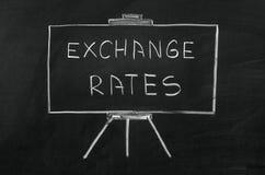 Exchange rates Royalty Free Stock Photo