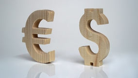 Exchange rating. Currency sign Euro, Dollar. Royalty Free Stock Image