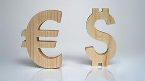 Exchange rating. Currency sign Euro, Dollar. Stock Photography