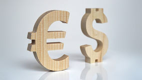 Exchange rating. Currency sign Euro, Dollar. Stock Image