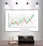 Exchange sales statistics Stock Photography