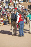 Exchange  between Senator John Kerry with Intertribal Council President, Gallup, NM Royalty Free Stock Photography
