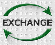 Exchange text banner Stock Images