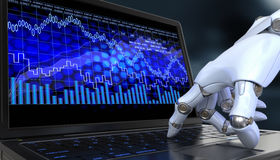 Exchange trade robot Royalty Free Stock Photography