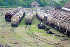 Exchanger and train convoy. Classic view Stock Images
