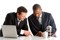 Exchanging business knowledge Royalty Free Stock Image