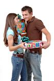 Exchanging Gifts Royalty Free Stock Images